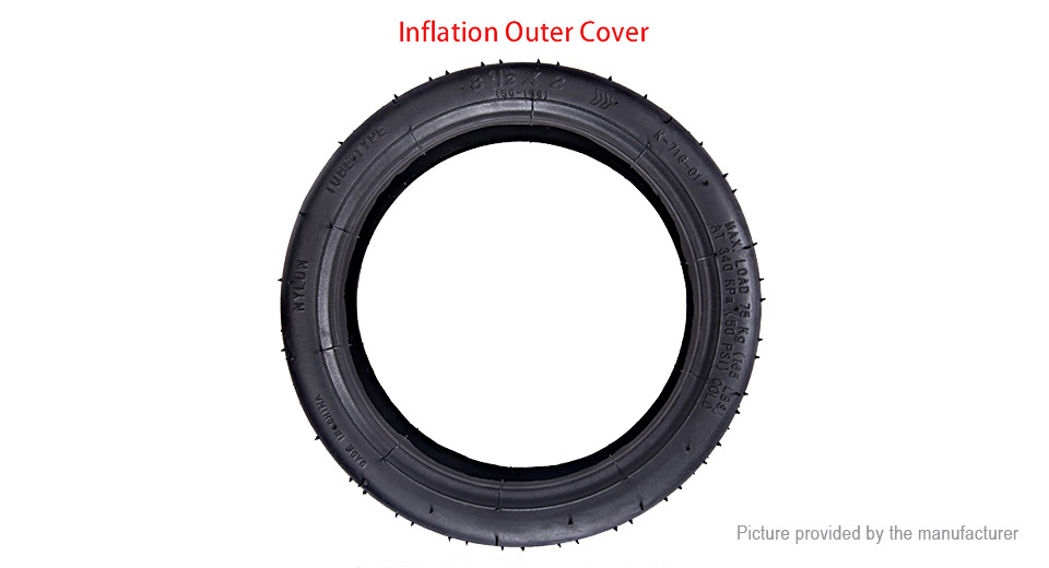 Product Image: 81-2-2-rubber-outer-cover-solid-tire-for-xiaomi