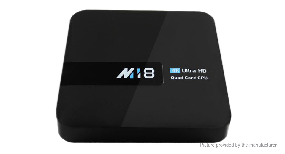 M18 Quad-core Nougat TV Box (8GB/EU), 2GB/8GB, EU, Black