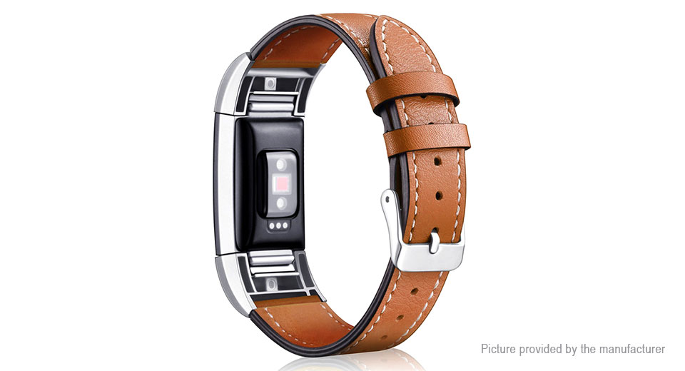Replacement Leather Watch Band Strap for Fitbit Charge 2