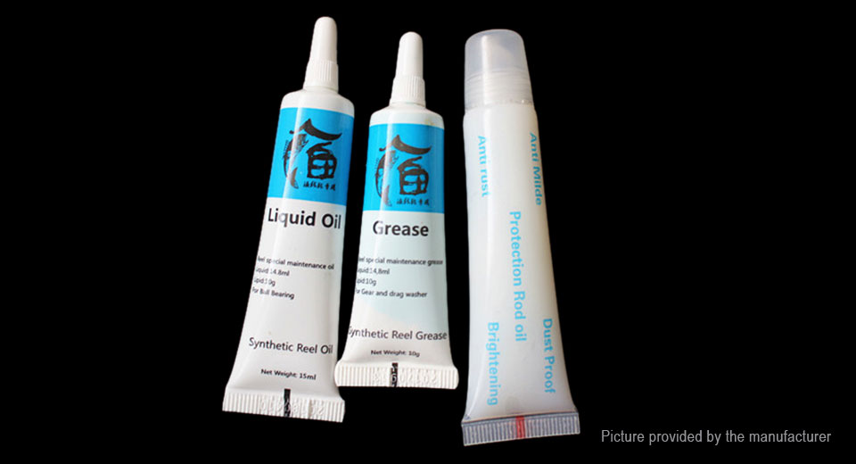 Fishing Reel Lubricant Grease Liquid Oil Protection Rod Oil (3 Pieces)