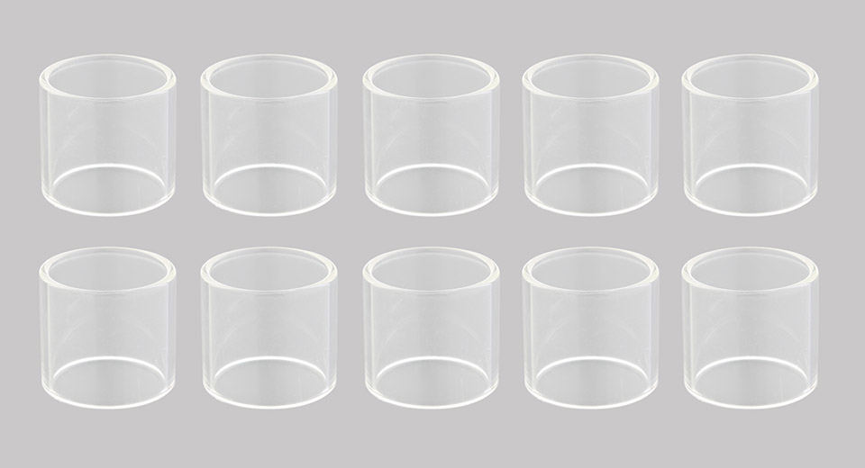 Replacement Glass Tank for Wismec Amor Mini Atomizer (10-Pack)