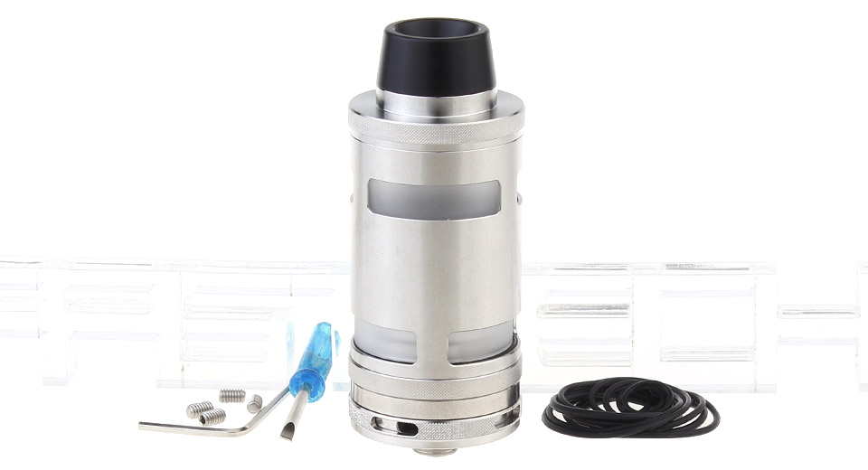Typhoon GT4 Styled RTA Rebuildable Tank Atomizer, Typhoon GT4, SS + Glass, SS Color