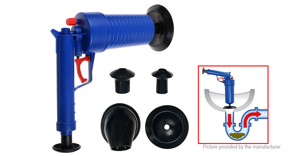 Toilet Dredge Plug Air Pump Blockage Remover Sewer Sinks Blocked Cleaning Tool