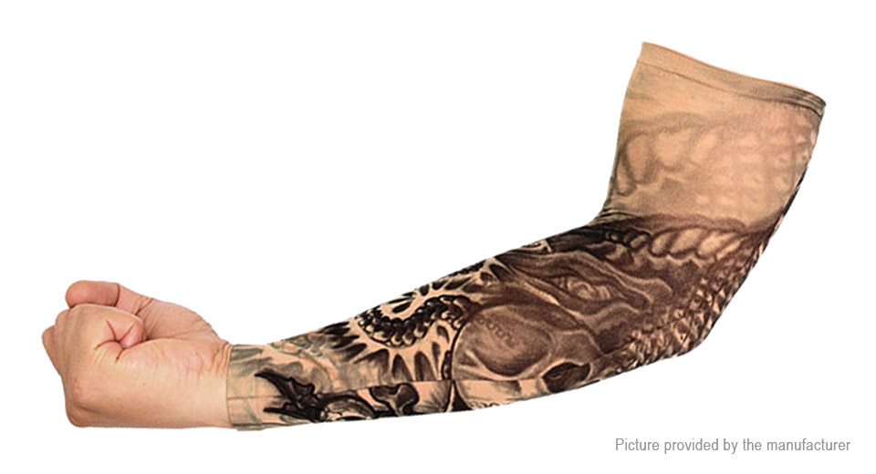Unisex Outdoor Sports Cycling Tattoo Arm Cooling Sleeves (Free Size)