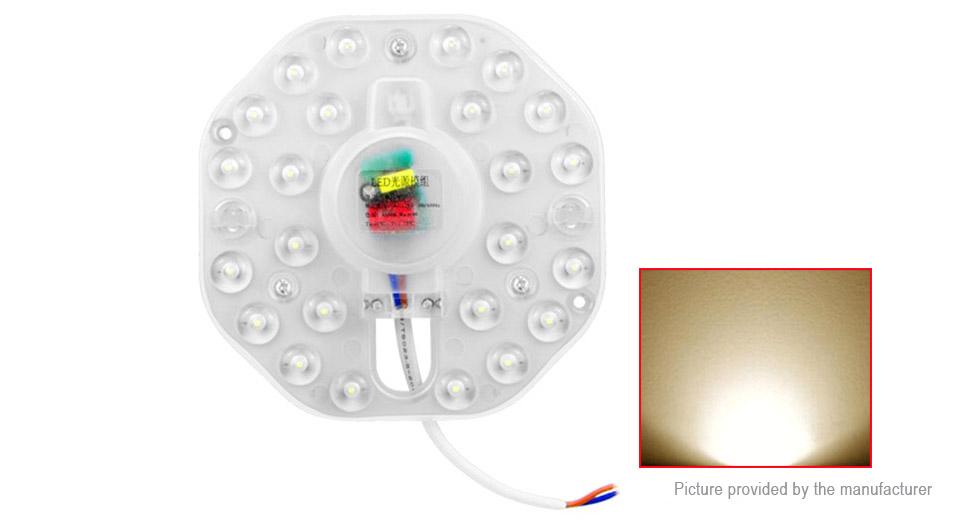 12W 24*2835 SMD LED Panel Circle Annular Ceiling Light Fixtures Board Lamp