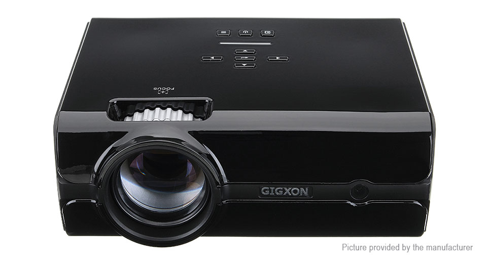 GIGXON G45 LED Projector Home Theater, US, G45, Black, US