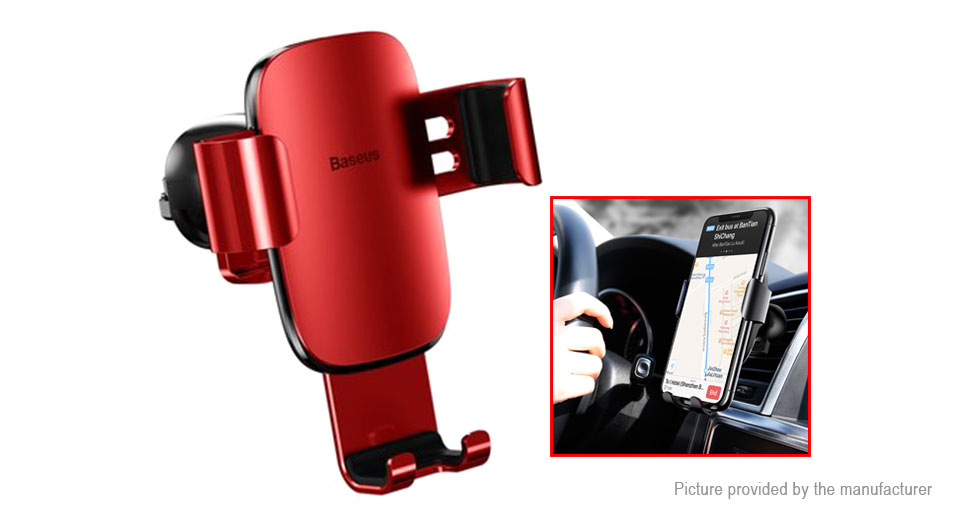 Authentic Baseus Car Air Vent Mount Qi Inductive Wireless Charger Holder Stand