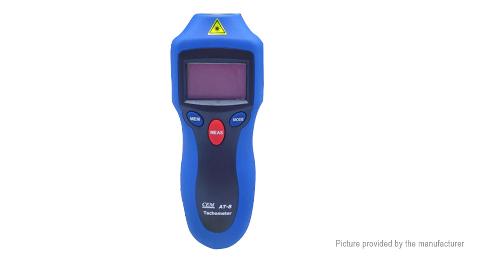 Product Image: cem-at-8-lcd-contact-non-contact-rpm-motor-speed
