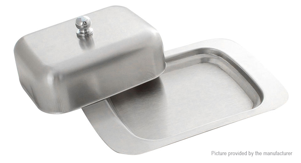 Stainless Steel Butter Cheese Dish Serving Tray Storage Container