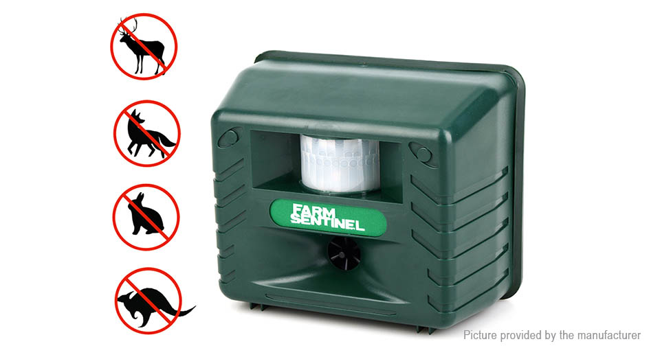 Outdoor Ultrasonic Electronic Animal Repellent Bird Mouse Pest Repeller (AU)