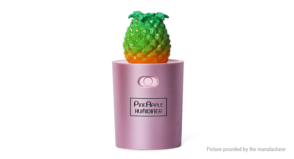 Pineapple Styled USB Powered Ultrasonic Humidifier Aroma Diffuser Air Purifier