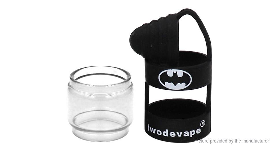 Iwodevape Glass Tank + Protective Silicone Sleeve for SMOK Spirals Clearomizer