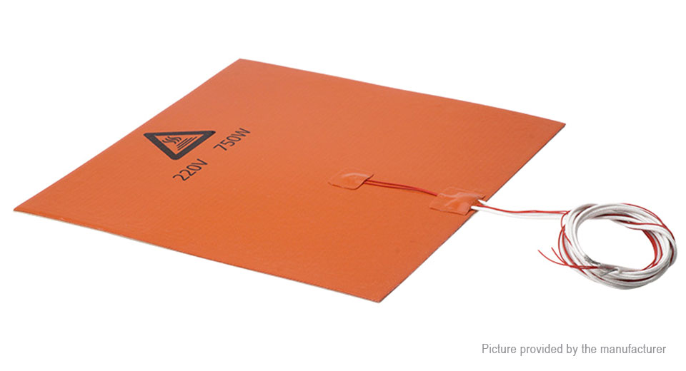 750W Silicone Heated Bed Heating Pad for 3D Printer (300*300mm)