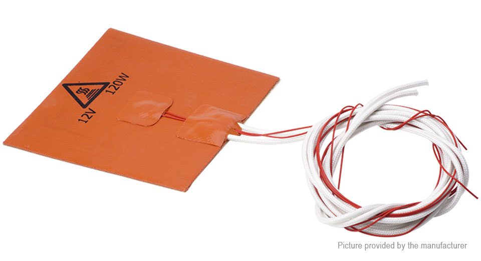 120W Silicone Heated Bed Heating Pad for 3D Printer (120*120mm)