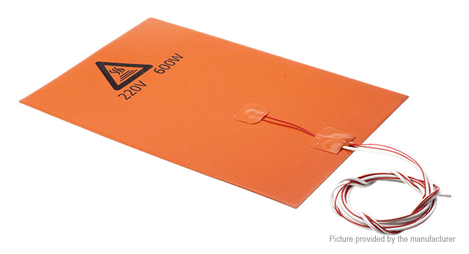600W Silicone Heated Bed Heating Pad for 3D Printer (200*300mm)