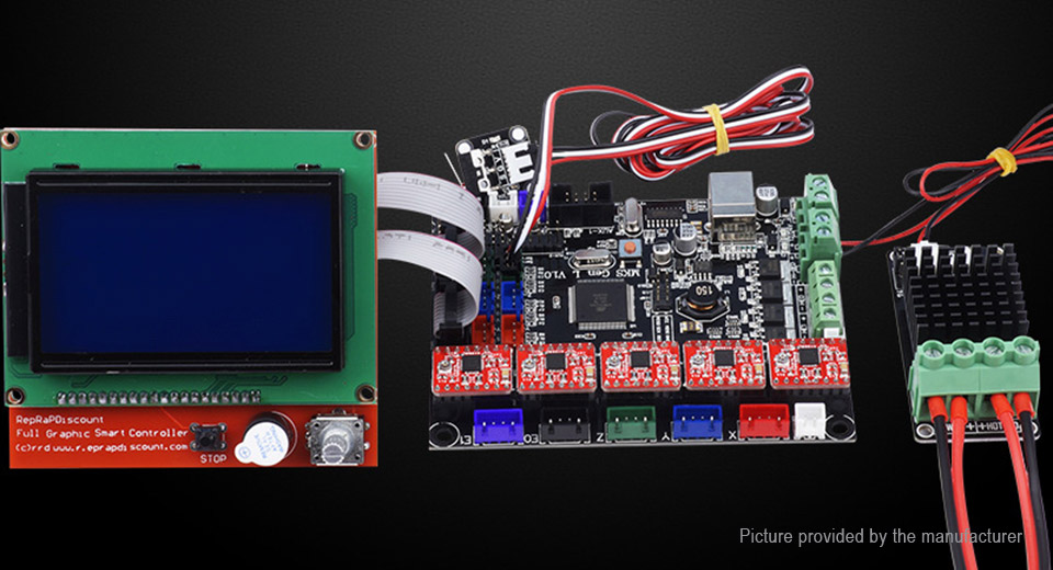 MKS Gen L V1.0 Motherboard + 12864 LCD + A4988 Driver Kit for 3D Printer