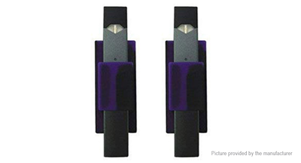 Silicone Cell Phone Holder for JUUL Pods (2-Pack), Black Purple, 2-Pack