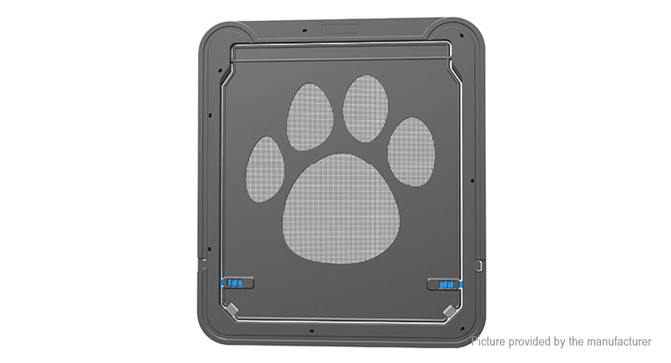 Magnetic Lockable Pet Cat Dog Safe Flap Screen Door (42*37cm), Black, 42*37cm