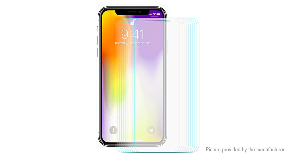 ENKAY 2.5D Tempered Glass Screen Protector for iPhone XS Max (10-Pack)