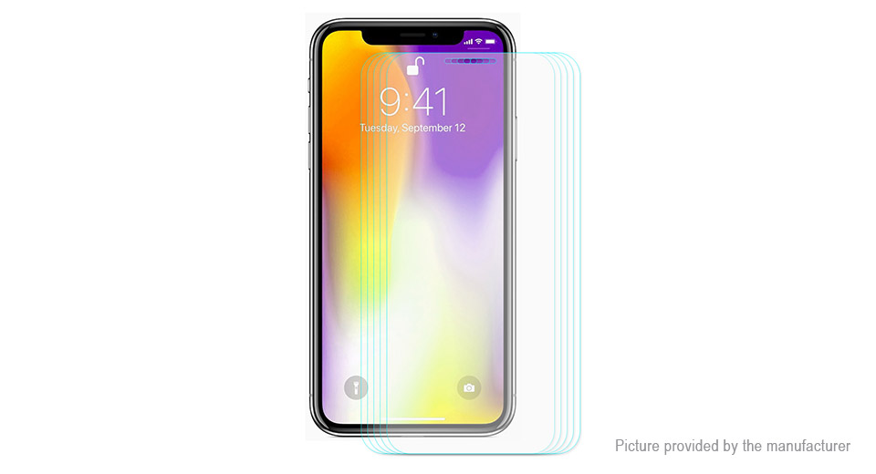 Hat.Prince 2.5D Tempered Glass Screen Protector for iPhone XS Max (5-Pack)