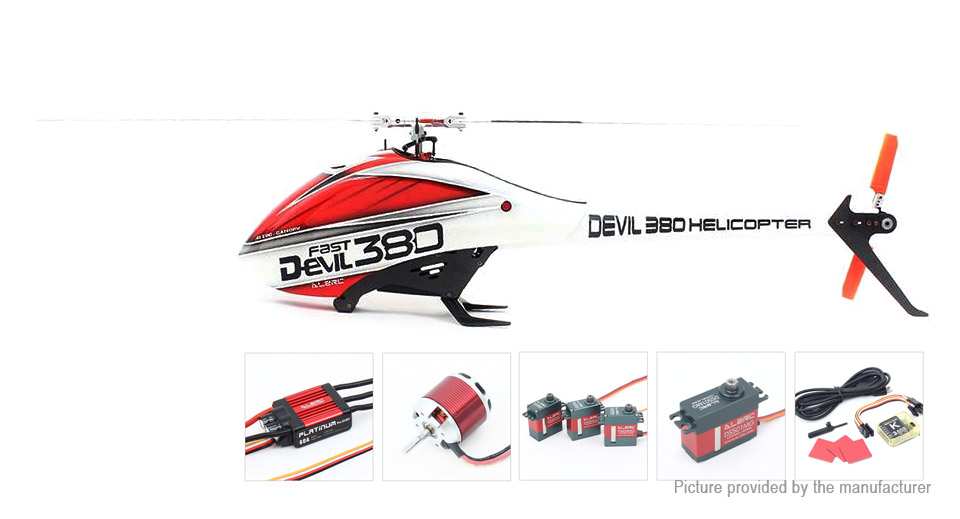 Authentic ALZRC Devil 380 FAST Flybarless Belt Drive R/C Helicopter