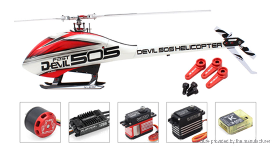 Authentic ALZRC Devil 505 FAST Flybarless Belt Drive R/C Helicopter