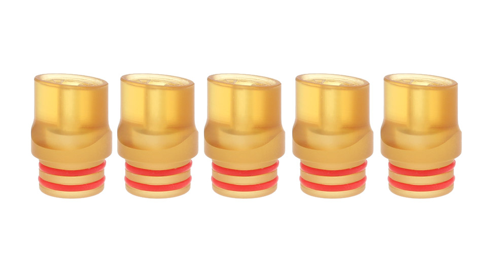 PEI 510 Drip Tip (5-Pack), 14.7mm, Yellow, 5-Pack