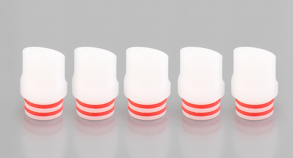 POM 510 Drip Tip (5-Pack), 14.7mm, White, 5-Pack