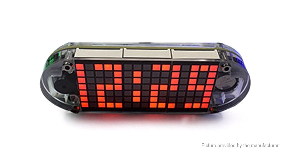 DIY Dot Matrix Digit LED Electronic Clock Kit
