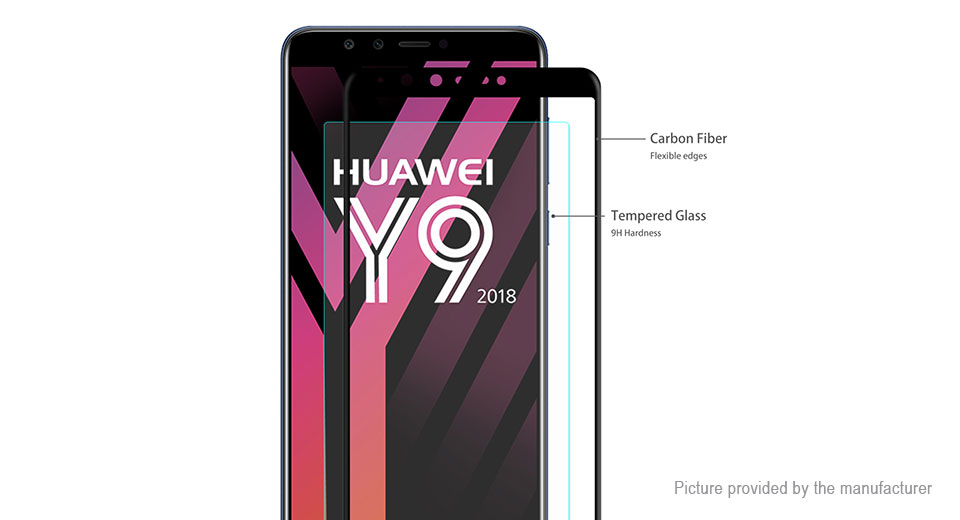 Hat.Prince 3D Tempered Glass Screen Protector for Huawei Y9 2018/Enjoy 8 Plus (5-Pack)