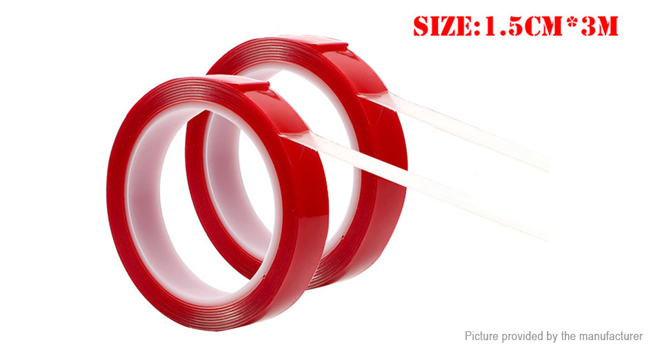 Double-sided Adhesive Tape Acrylic Gel Transparent Glue Sticker (15mm*3m)