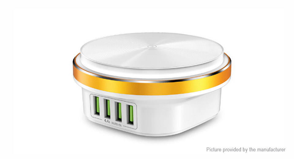 TOPK C4406 2-in-1 Portable 4-Port USB Charger Power Adapter & LED Night Light