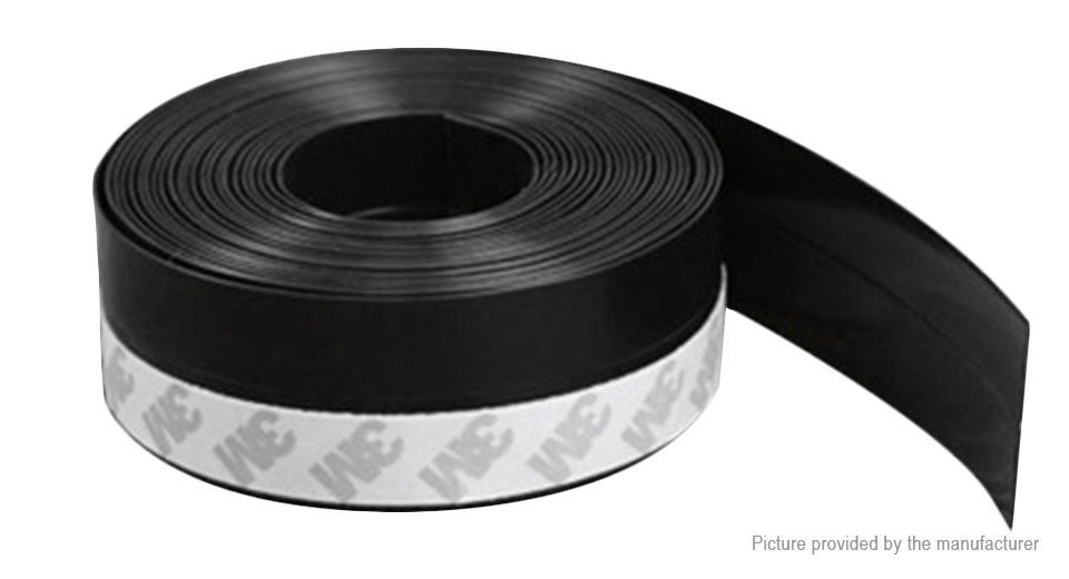 Self-adhesive Silicone Rubber Weatherstrip Door Window Sealing Strip (35mm*5m)