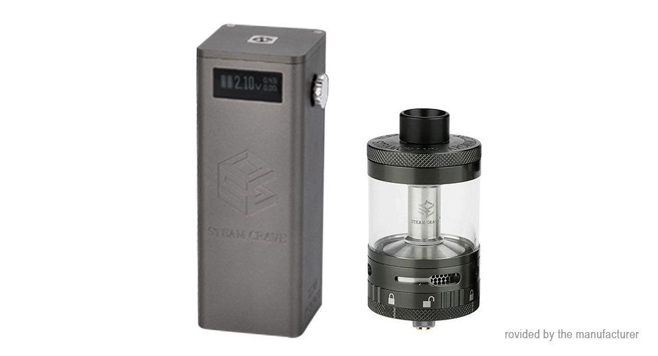 Authentic Steam Crave Titan PWM 300W VV Box Mod + Aromamizer Titan RDTA Kit Titan PWM, Gunmetal
