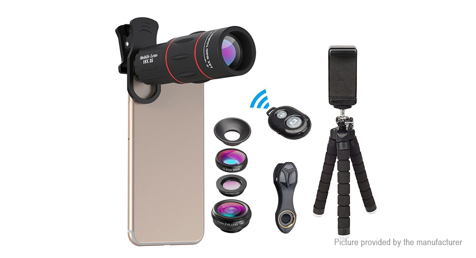 Product Image: apexel-apl-t18xbzj5-4-in-1-clip-on-camera-lens-kit