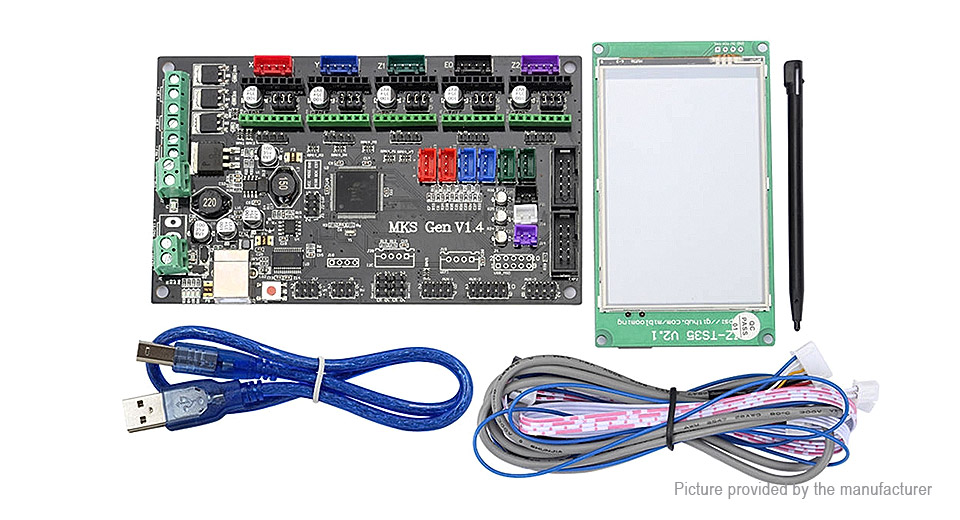 MKS GEN V1.4 Motherboard + 3.5 Chinese/English Touch Screen Kit for 3D Printer