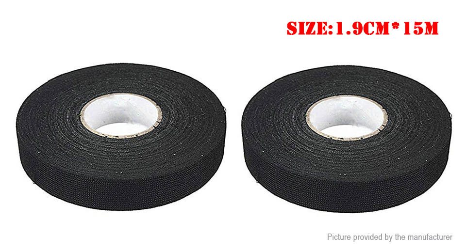 Car Automotive Cloth Fabric Cable Loom Wiring Harness Adhesive Tape (2-Pack)