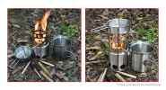 Authentic AOTU Portable Outdoor Camping Firewood Stove Combo