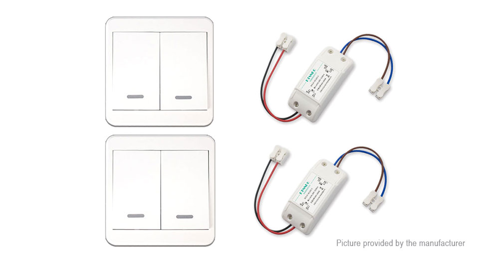 15 46 ktnnkg 2 gang 433mhz wireless remote control wall switch  2-pack   1000w max  load