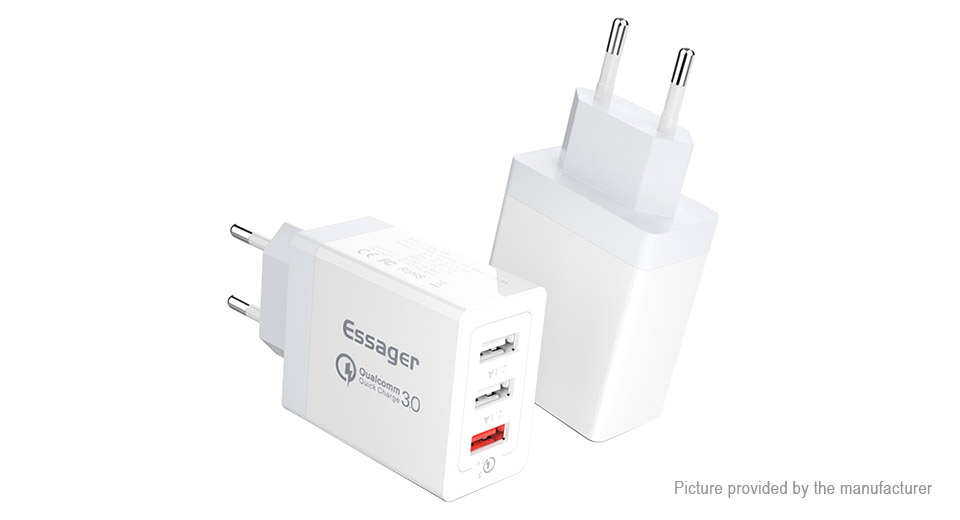 Product Image: essager-esqc30-3-port-usb-wall-charger-power