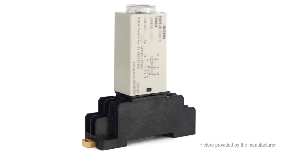 H3Y-2 AC 220V Power On Time Delay Relay Solid State Timer DPDT Socket