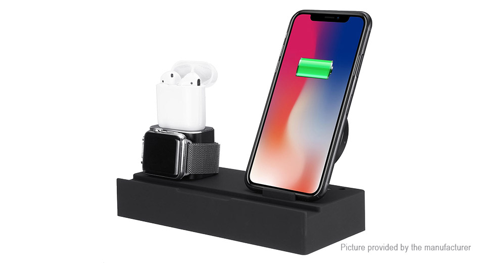 8-in-1 Qi Wireless Charger Charging Dock Stand (US)