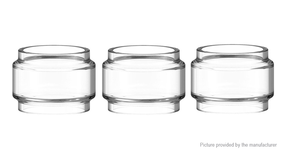 Iwodevape Replacement Glass Tank for Eleaf MELO 4 Tank Clearomizer (3-Pack)