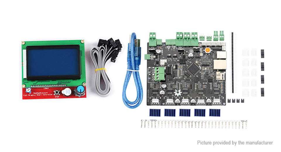 Smoothieboard 5X V1.1 Open Source Mainboard + 12864 LCD Display Kit for 3D Printer