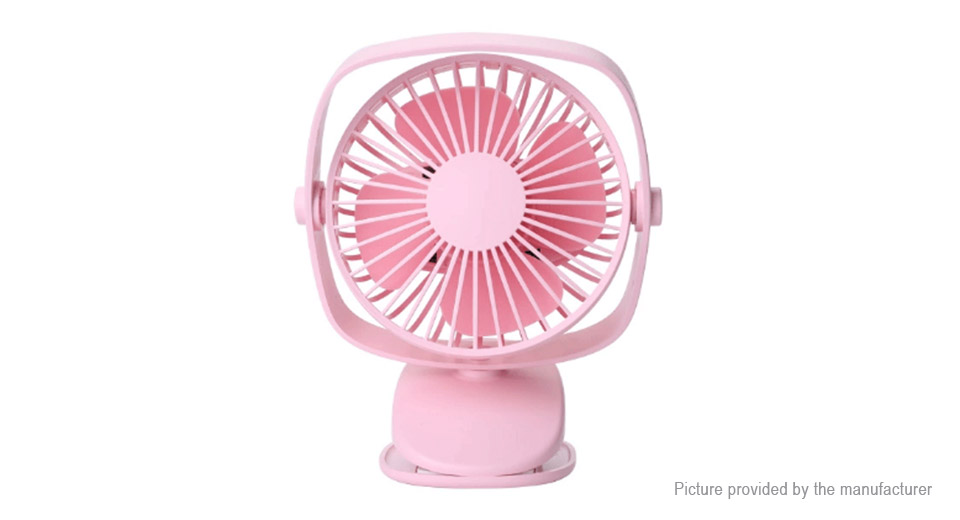 USB Rechargeable Portable Clip-on Mini Cooling Fan