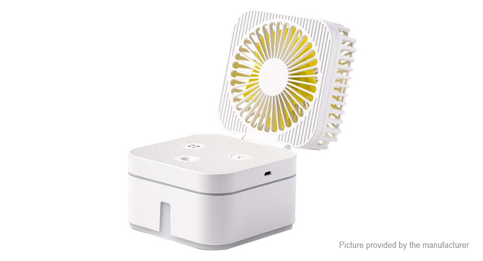 Cube Styled 2-in-1 Mini Air Humidifier USB Cooling Fan