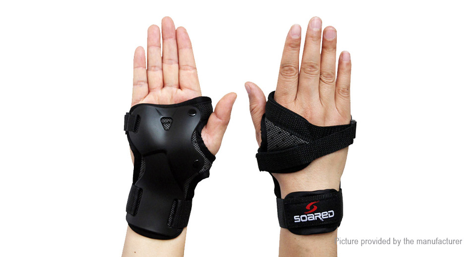 SOARED Skating Skiing Wrist Guard Support Palm Pad Protector (Size L)
