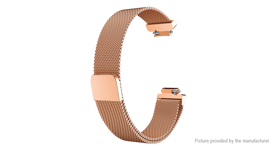 Replacement Stainless Steel Mesh Watchband Strap for Fitbit Inspire (Size S)