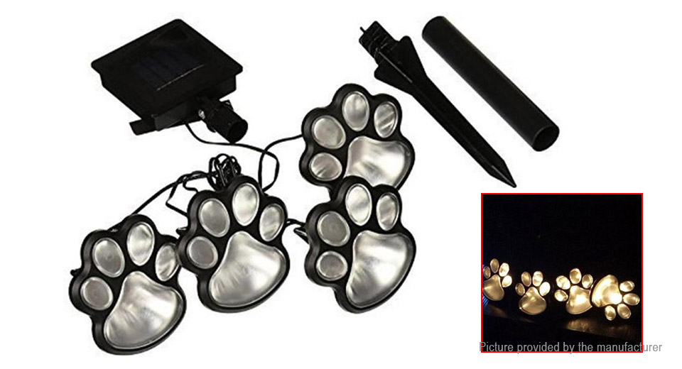 Dog Claw Styled Solar Powered Garden LED Lawn Light