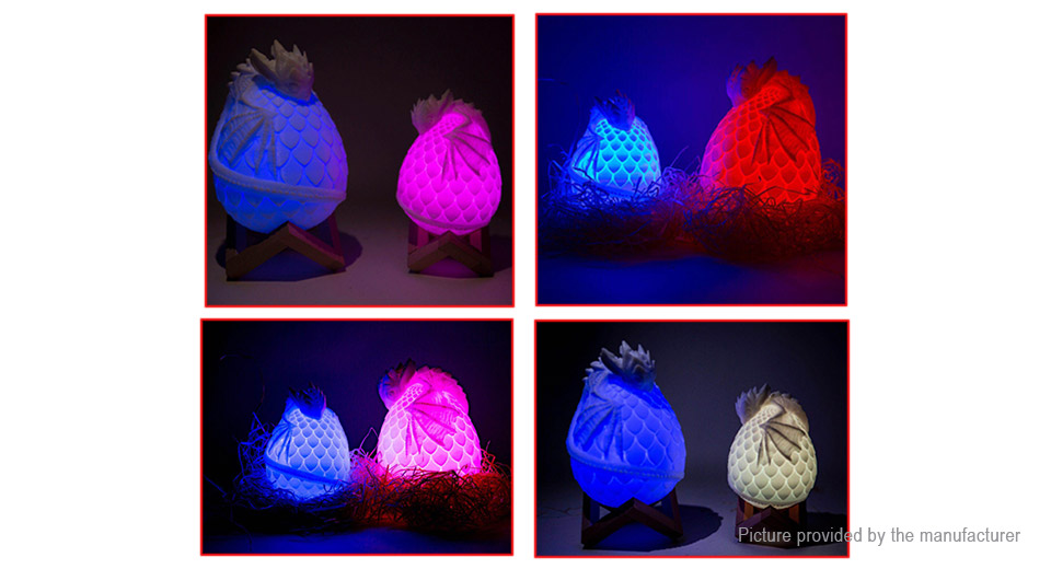 Creative 3D Dragon Egg LED Light Home Atmosphere Decoration Night Lamp
